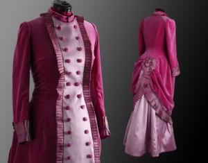 Historisches Kleid um 1882