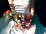 Ein typisches Hochzeitskleid