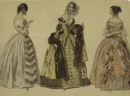 Beispiele für die Mode des 19. Jahrhunderts