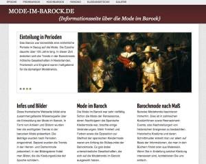 Themenseite - mode-im-barock.de